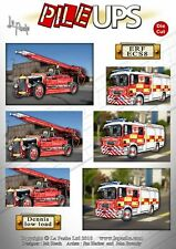Fire Engines - La Pashe Pile Ups Die Cut Toppers A4 Sheet