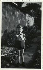 PHOTO ANCIENNE - VINTAGE SNAPSHOT - ENFANT GRIMACE LANGUE DRÔLE - CHILD TONGUE