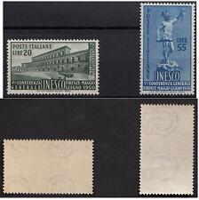 1950 ITALIA 5° Conferenza Unesco 2 V Nuovi Integri MNH** Sassone 618/19