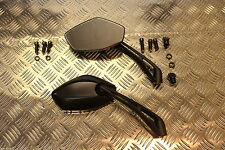 Suzuki Stealth 10mm 8mm Cafe Racer Bobber Streetfighter Custom Sports Mirrors .