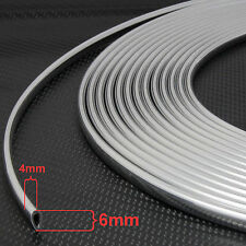 1m Size- 6mm x 4mm u-profile Chrome Car Edge Guard Moulding Trim Molding Strip