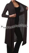 CR3 FUNFASH BLACK RIBBED LONG CARDIGAN DUSTER SWEATER JACKET Plus Size 2X 22 24