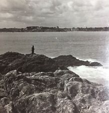 Stereoscope - Dinard & Rocky Coast Of Brittany  Ramparts Fortress St Malo France