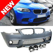 11-14 BMW F10 5-SERIES M5 STYLE NON-PDC FRONT BUMPER KIT w/ CLEAR FOG LIGHTS