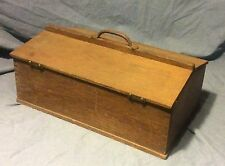 Unusual Antique Oak Tool Chest Box Carry Gardening What Not