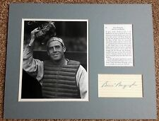 BENNY BENGOUGH Signed Autographed 3x5 Index Card Matted w/ Photo & Bio to 11x14