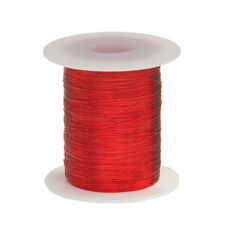 "30 AWG Gauge Enameled Copper Magnet Wire 4oz 803' Length 0.0108"" 155C Red"