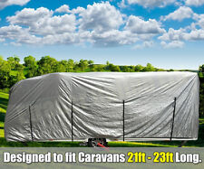 XXL Caravan Cover 21ft -23ft Water Resistant Silver Breathable Aluminised Large
