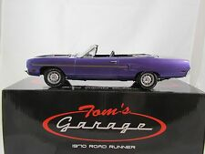 GMP PLYMOUTH VIOLET BLACK INT ROAD RUNNER 1:18 CONVERTIBLE CAR 440 SIX PACK ACME