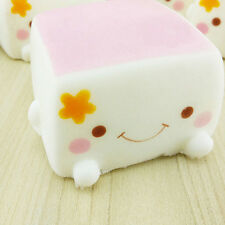 Cute Colorful Soft Squishy Chinese Tofu Adorable Expression Smile Face Fun Toys