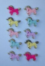 10 Unicorns - Resin Flatback Cabochon Embellishment for craft scrapbooking phone