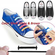 12 confezioni facile No Tie Scarpa Elastica Scarpe da ginnastica in pizzo adulto bambino sport lacci delle scarpe