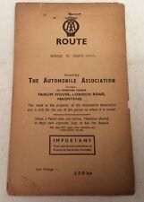 "Vintage AA (Automobile Association) Route Planner ""Bromley To France Lynch"" 108m"