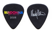 Madonna Monte Pittman Signature Black Guitar Pick - 2008 Sticky & Sweet Tour