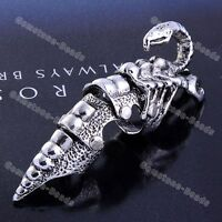 New Fashion Armor Knuckle Full Finger Double Ring Punk Rock Gothic 1PC