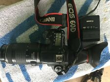 Canon 60D with Canon 70-300mm lens battery and charger