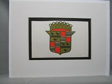 Cadillac USA Car Emblem Decal by Artist Color Illustration Exhibit