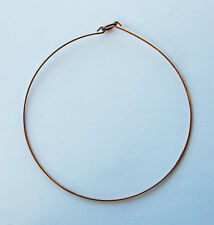 VINTAGE RAW NATURAL BRASS THIN WIRE CHOKER NECKLACE
