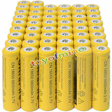 50 3.7V 18650 9800mAh Li-ion Rechargeable Battery For Flashlight Torch