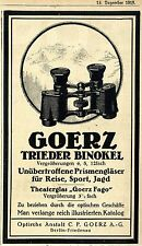 Trieder Binokel C. P. Goerz Berlin Optische Anstalt Historische Annonce von 1918