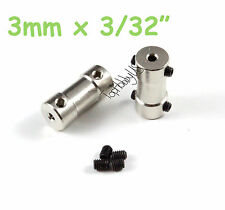 "2pcs 2mmx1/32"" Brass RC Boat Motor Transmission Connector/Coupler US TH038-05702"