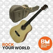 Cort Earth MINI F Dreadnaught Acoustic Electric Traveller Guitar Natural Pickup