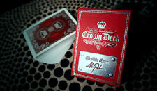 1 deck The Crown Deck Playing Cards Luxury Edition Red by The Blue Crown
