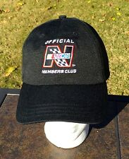 NASCAR NEW Black Official Members Club cap/hat 100% cotton Stock Car Racing
