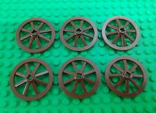 *NEW* Lego Brown Wagon Wheels for Old Western Castle Kingdom Settings -6 pcs