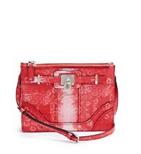 NWT GUESS Greyson Animal Print Crossbody Handbag Purse Ombre Red