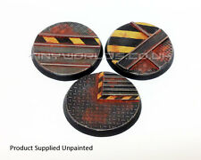 50mm Round Hive City Resin Bases - Warhammer 40K Necromunda Industrial