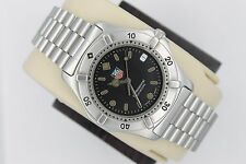 Tag Heuer 2000 WE1110 Professional Stainless Steel Watch Mens Black Mint Crystal
