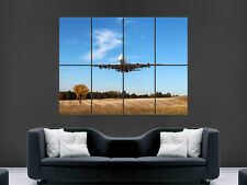A380 AEROPLANE POSTER JUMBO AIRBUS PLANE EMIRATES AIRLINE WALL PRINT LARGE HUGE