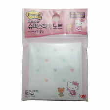 3M Hello Kitty Post-It Memo Cute Pads  Super Sticky Note/60 Sheets SSN-KT 654 HT