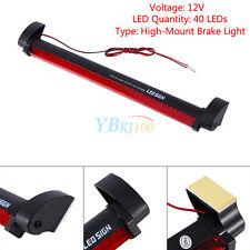 1Pc Universal Red 40 LED 12V Tail Rear High Mount Brake Warning Light Lamp AP