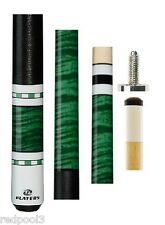 NEW Players C-943 Pool Cue - C943 - Emerald Green Stain - FREE JT CAPS & CASE