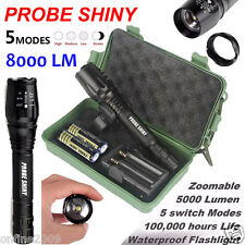 8000 Lumen G700 X800 PROBE SHINY Zoomable XML T6 LED Focus Flashlight Фонарик