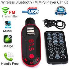 Wireless Bluetooth FM Transmitter MP3 Player Handsfree Car Kit USB TF SD Remote