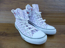 Converse CT All Star Patterned white Canvas Hi Top Trainers Size UK 6 EUR 39