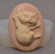Kitty Cat silicone mold cupcake fimo polymer clay resin mould