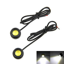 2x Auto Car COB Round LED Daytime Running Licht Lampen  Weiß Head light 12V DRL