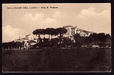 GALLICANO NEL LAZIO ROMA CARTOLINA VILLA S. PASTORE FP VG 1913