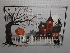 Judith Kirby VICTORIANS HAUNTED HALLOWEEN HOUSE #9 Cross Stitch Chart Pattern
