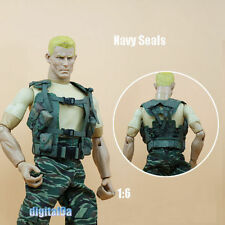 "1/6 Scale Soldier Accessories SEALs Waistcoat Green Vest For 12"" Action Figure"