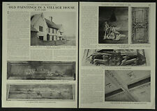Painted Panels The Church Farmhouse Parham Suffolk 1958 2 Page Photo Article
