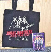 JONAS BROTHERS ~ THE CONCERT EXPERIENCE (DVD, 2009) & 2009 WORLD TOUR  TOTE BAG