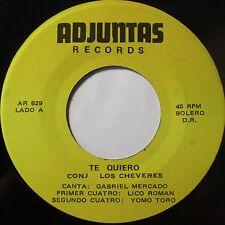 LOS CHEVERES w/ GABRIEL MERCADO latin BOLERO 45 on ADJUNTAS super scarce HEAR