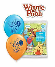 "6 pc 12"" Winnie the Pooh & Friends 1st Party Latex Balloons Happy Birthday"