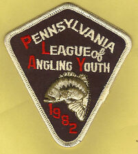 NEW Pa Pennsylvania Fish Commission 1982 Bass Youth Fishing P.L.A.Y. Cloth Patch