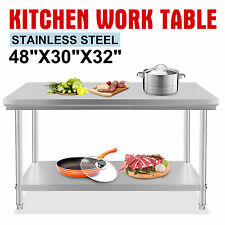 1219mm x 762mm Commercial Stainless Steel Kitchen Work Bench Food Prep Table
